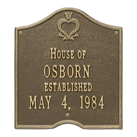 Personalized Whitehall Products Pennsylvania Dutch Anniversary Plaque with White/Gold Finish