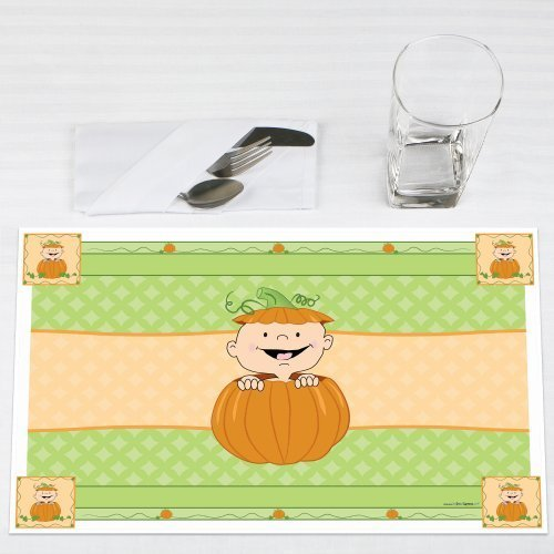 Little Pumpkin Caucasian Party Placemats Set of 12 by Big Dot of Happiness, LLC