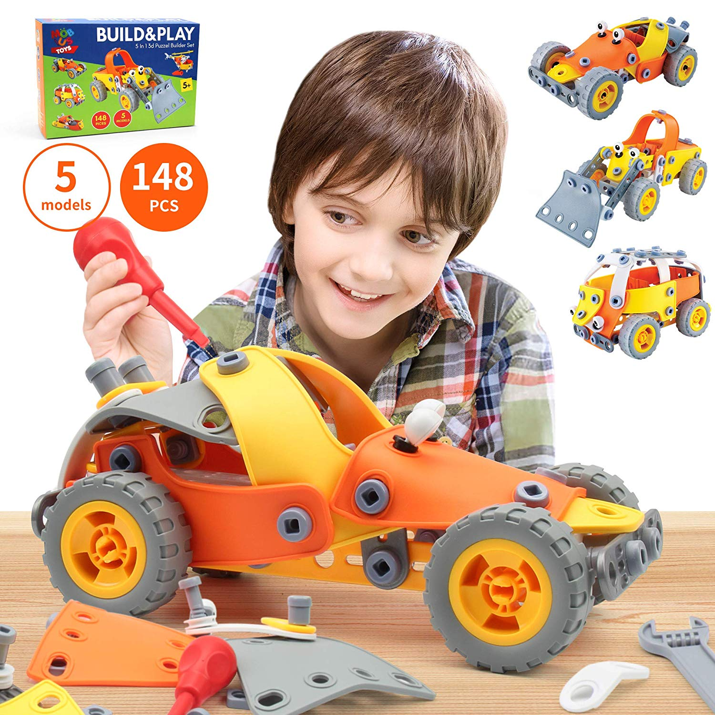 5-in-1 Building Toys for Kids - 148 Pcs Educational STEM ...