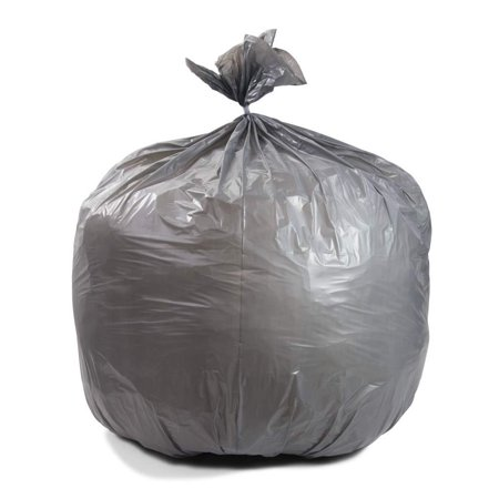 """AMZ Heavy Duty Can Liners 40"""" x 46"""". Roll of 125 Low Density Gray Trash Liners. 40-45 Gallon Extra Durable Trash Bags. Puncture, Tear Resistance. Performance Bottom Seal. Thickness 1.1 Mil."""