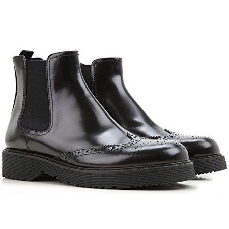 - Prada Women's Black Calf Leather Ankle Boots - Booties Shoes - Size: 41 EU