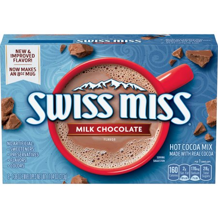 - (6 Pack) Swiss Miss Milk Chocolate Flavor Hot Cocoa Mix, (8) 1.38 Ounce Envelopes