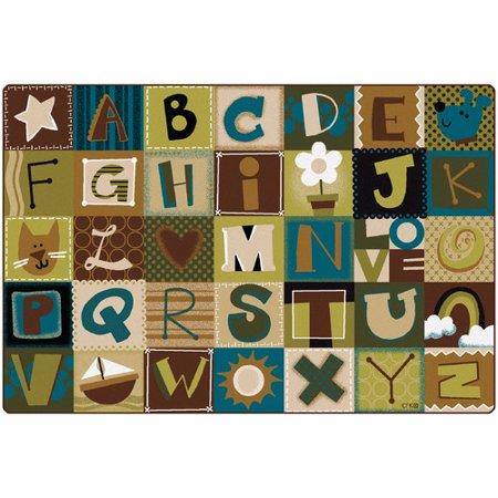 Carpets for Kids Premium Collection Toddler Alphabet Blocks Nature Area - Alphabet Carpet