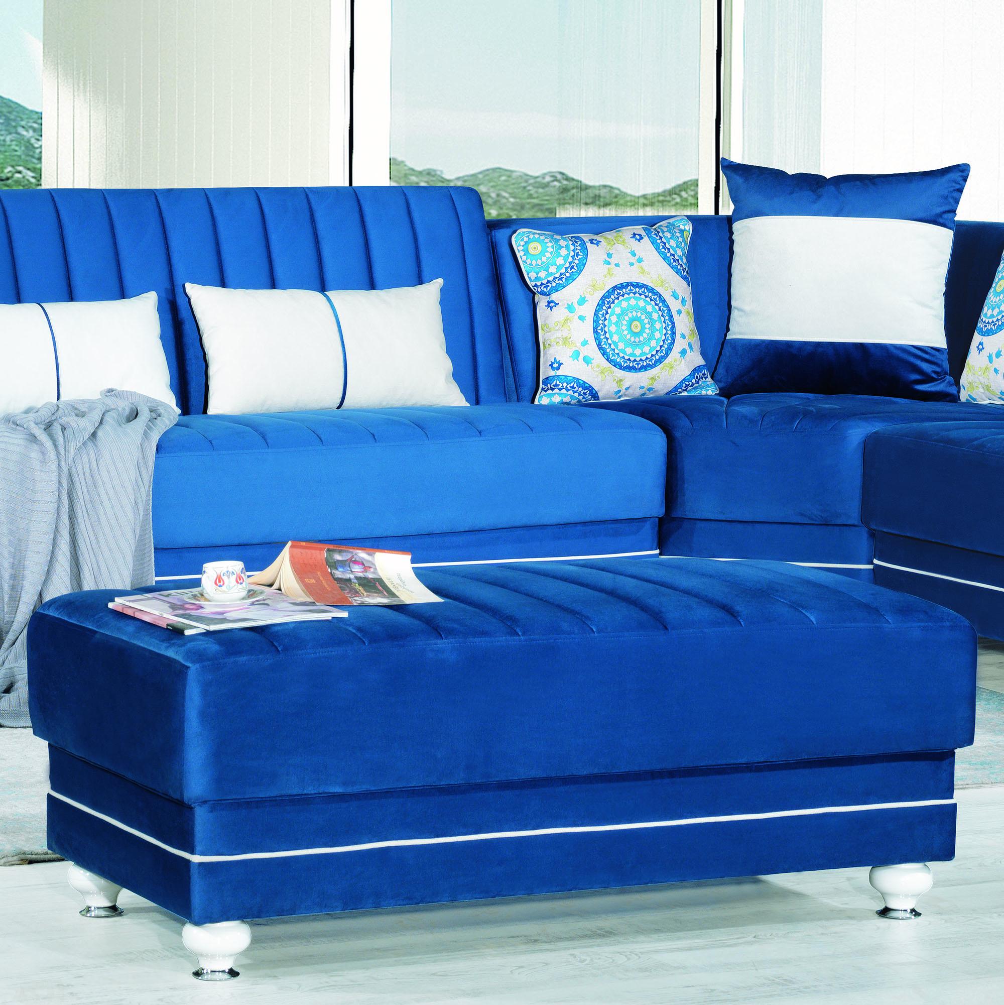 Royal Home Fabric Upholstery Modern Ottoman