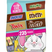SNICKERS, TWIX, M&M'S & MILKY WAY Chocolate Easter Candy Variety Bag, 85.76 oz.