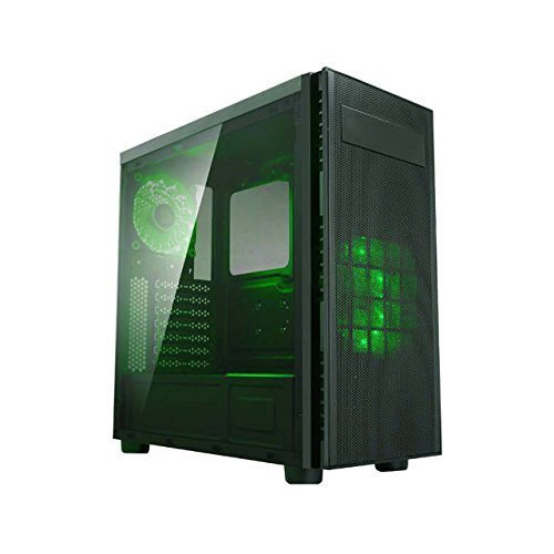 Desktop Pc Case, X-harmony Mid Tower Acrylic Side Window Desktop Pc Tower, Green