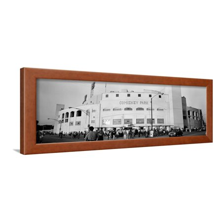 People Outside a Baseball Park, Old Comiskey Park, Chicago, Cook County, Illinois, USA Framed Print Wall Art By Panoramic Images ()
