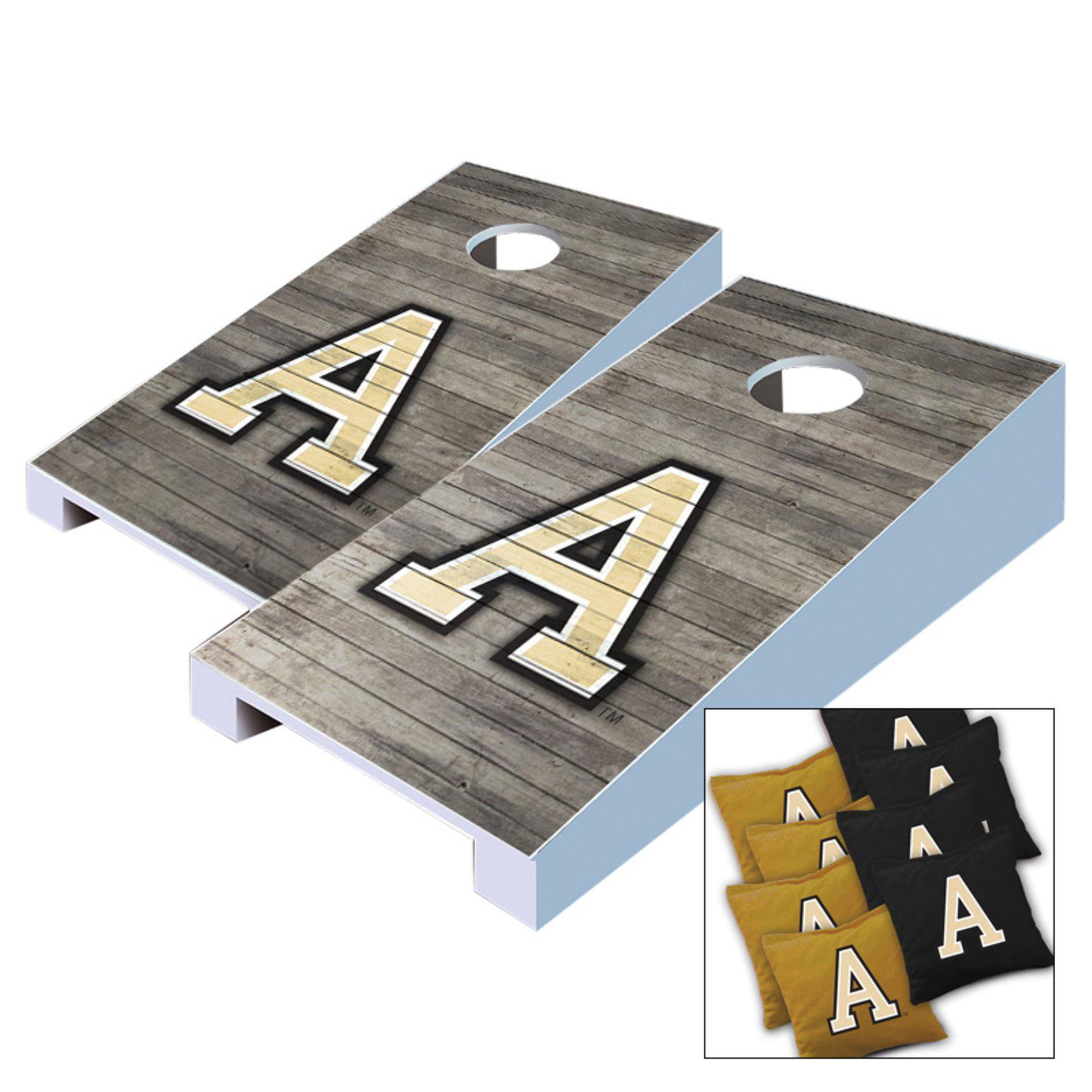 NCAA Army Black Knights Distressed Tabletop Cornhole Set by AJJ Cornhole