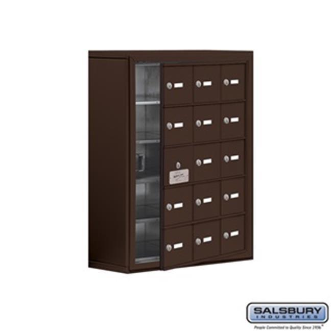 SalsburyIndustries 19158-15ZSK Cell Phone Storage Locker With Front Access Panel - 5 Door High Unit, Bronze - image 1 de 1