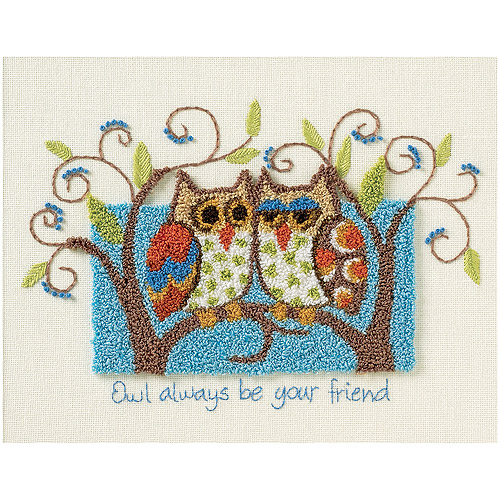 "Dimensions ""Owl Always Be Your Friend"" Punch Needle Kit, 10"" x 8"""
