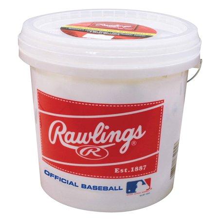 American League Official Baseball - Rawlings Official League Recreational Bucket, Bucket with 24 Baseballs, OLB3BUCK24