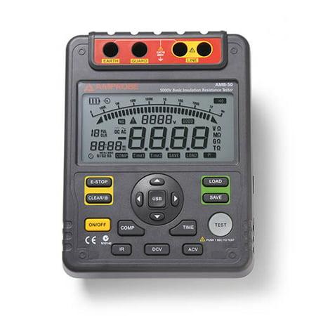 Amprobe AMB-50 Industrial High Voltage Insulation Resistance Tester, 5000V DC Test Voltage, 1