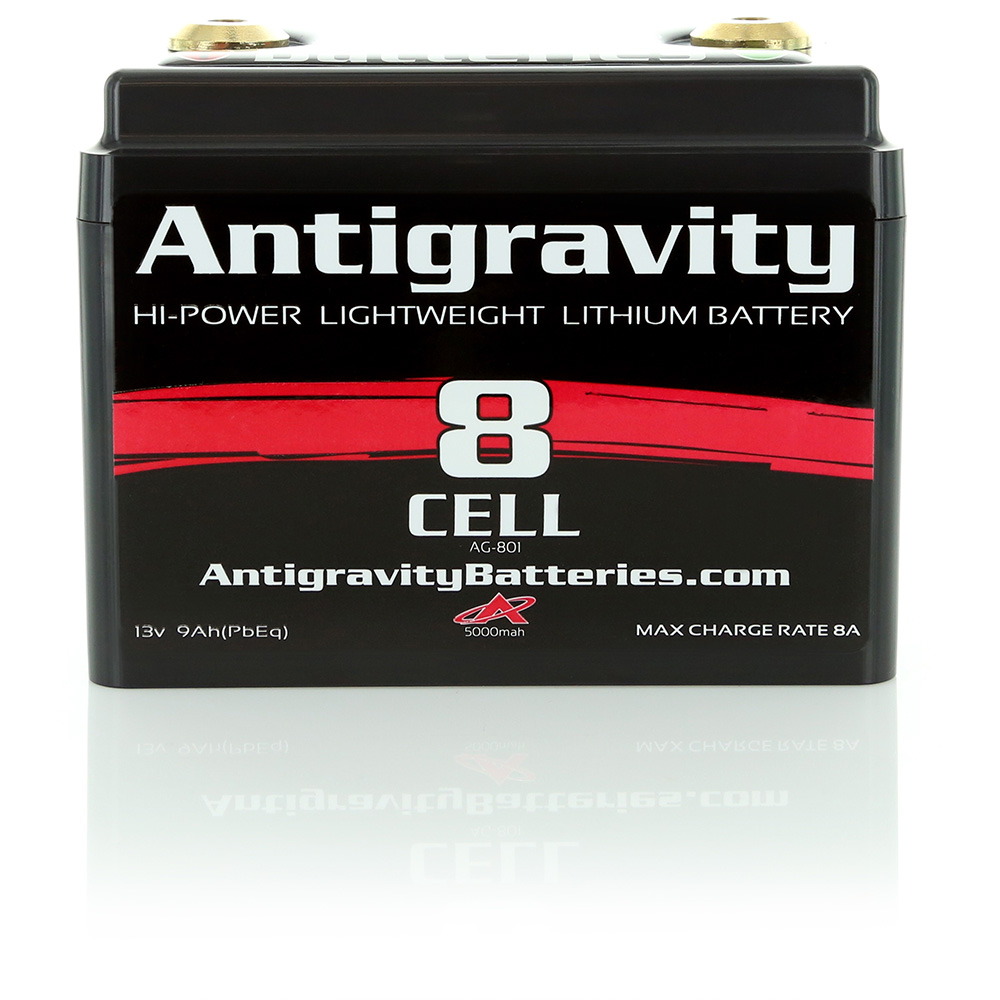 Antigravity Batteries AG-801 Lithium 8-Cell Small Case Powersports/Motorcycle Battery 240 CA