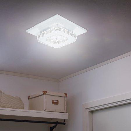 """new styles 44656 ae242 BEAD BEE 7.9"""" Modern Mini Crystal Ceiling Light Flush Mount Chandelier  Lighting White"""