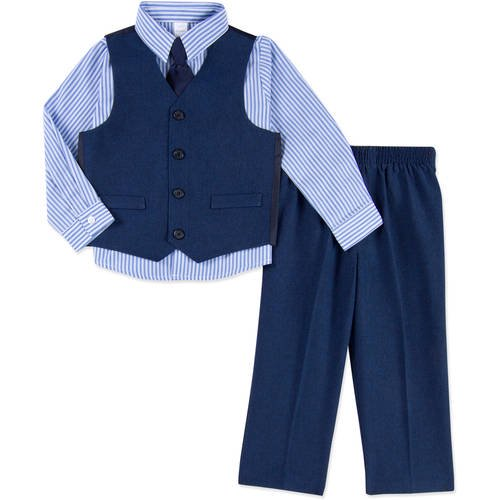 GEORGE - George Baby Toddler Boy Boy Special Occasion Dressy Vest, 4-Piece  Outfit Set - Walmart.com - Walmart.com