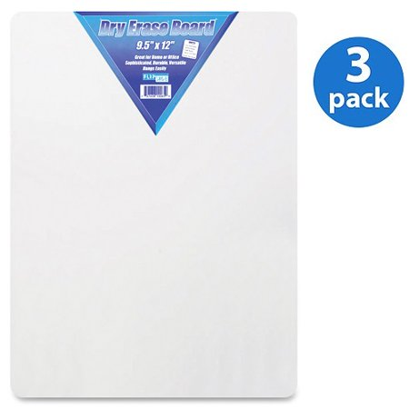 (3 Pack) Flipside, FLP10065, Unframed Mini Dry Erase Board, 1 Each - Mini Boards