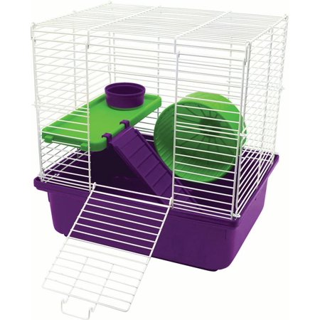 Super Pet- Container-My First Home 2-story- Purple/green 4 Pack (Case of 4