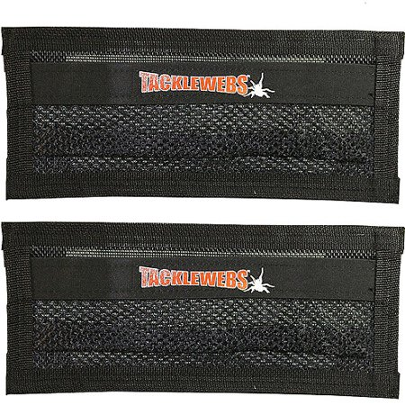 Tackle Webs 14  X 6  Black Hook And Loop  Set Of 2