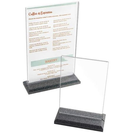 Cal Mil 695-17 8.50 x 11 in. Deluxe Card Holder Clear Acrylic - Black & Clear - image 1 de 1