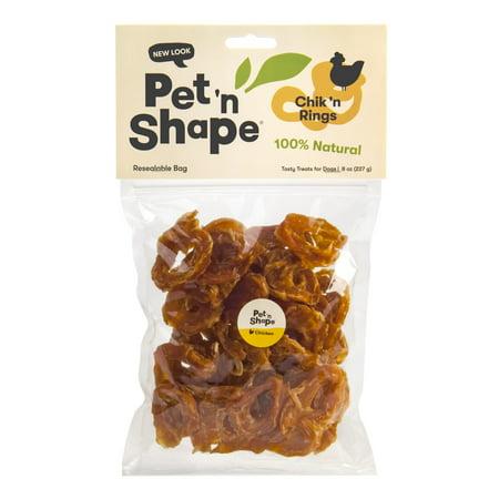 Pet 'n Shape All Natural Chik 'n Rings Dog Treats, 8 -