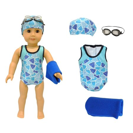 Doll Clothes - Swimsuit Set Outfit Fits 18