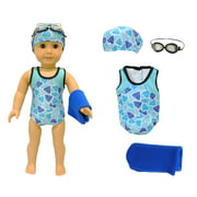 "Doll Clothes - Swimsuit Set Outfit Fits 18"" American Girl & Other 18"" Inch Dolls"