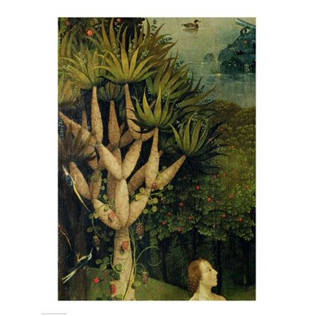 The Tree of the Knowledge of Good and Evil detail from the right panel of The Garden of Earthly Delights c1500 Canvas Art - Hieronymus Bosch (18 x (Hieronymus Bosch Garden Of Earthly Delights Canvas)