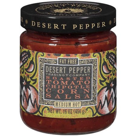 (2 Pack) Desert Pepper Roasted Tomato Chipotle Corn Salsa, 16 Oz. Jar