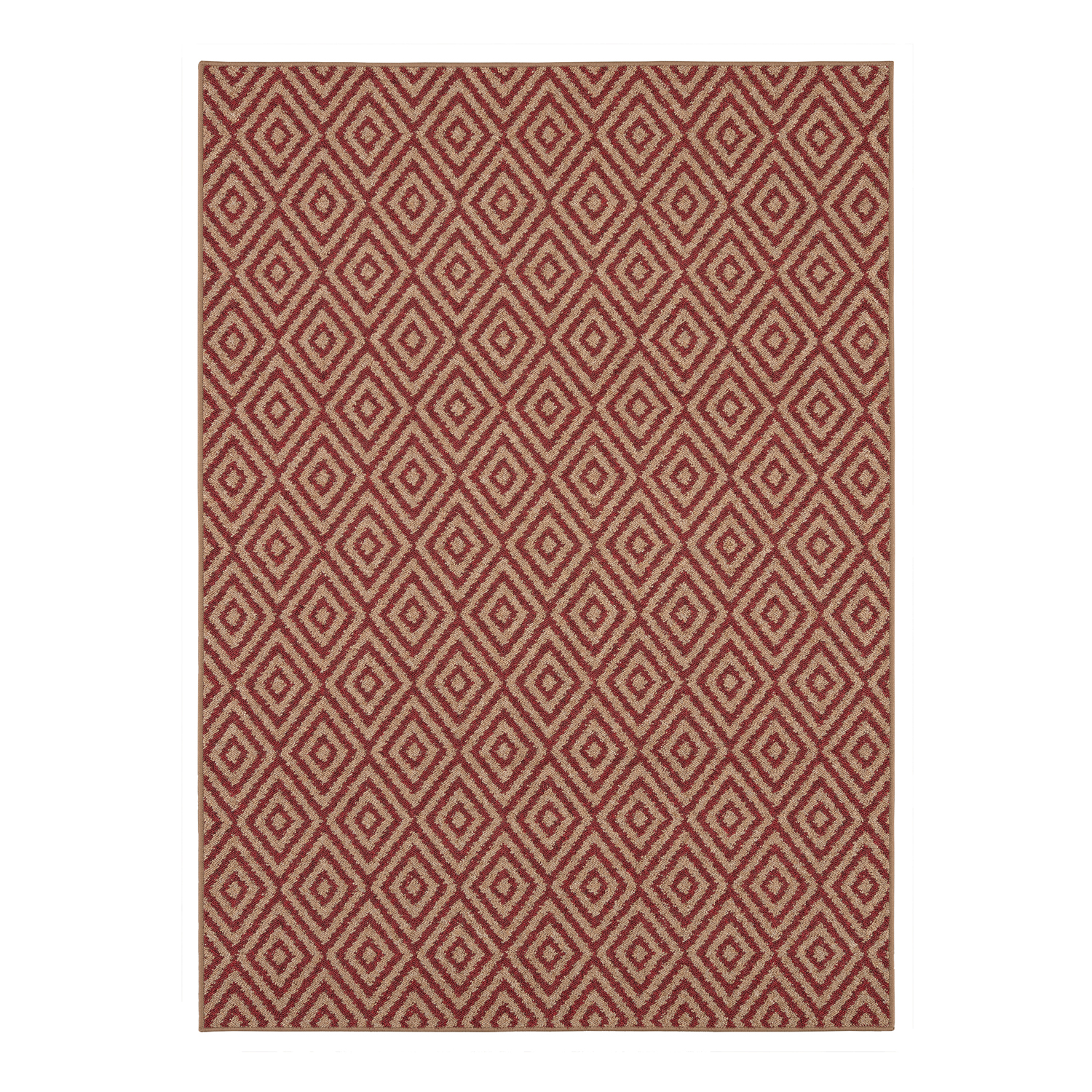 Mainstays Red Diamond Outdoor Area Rug