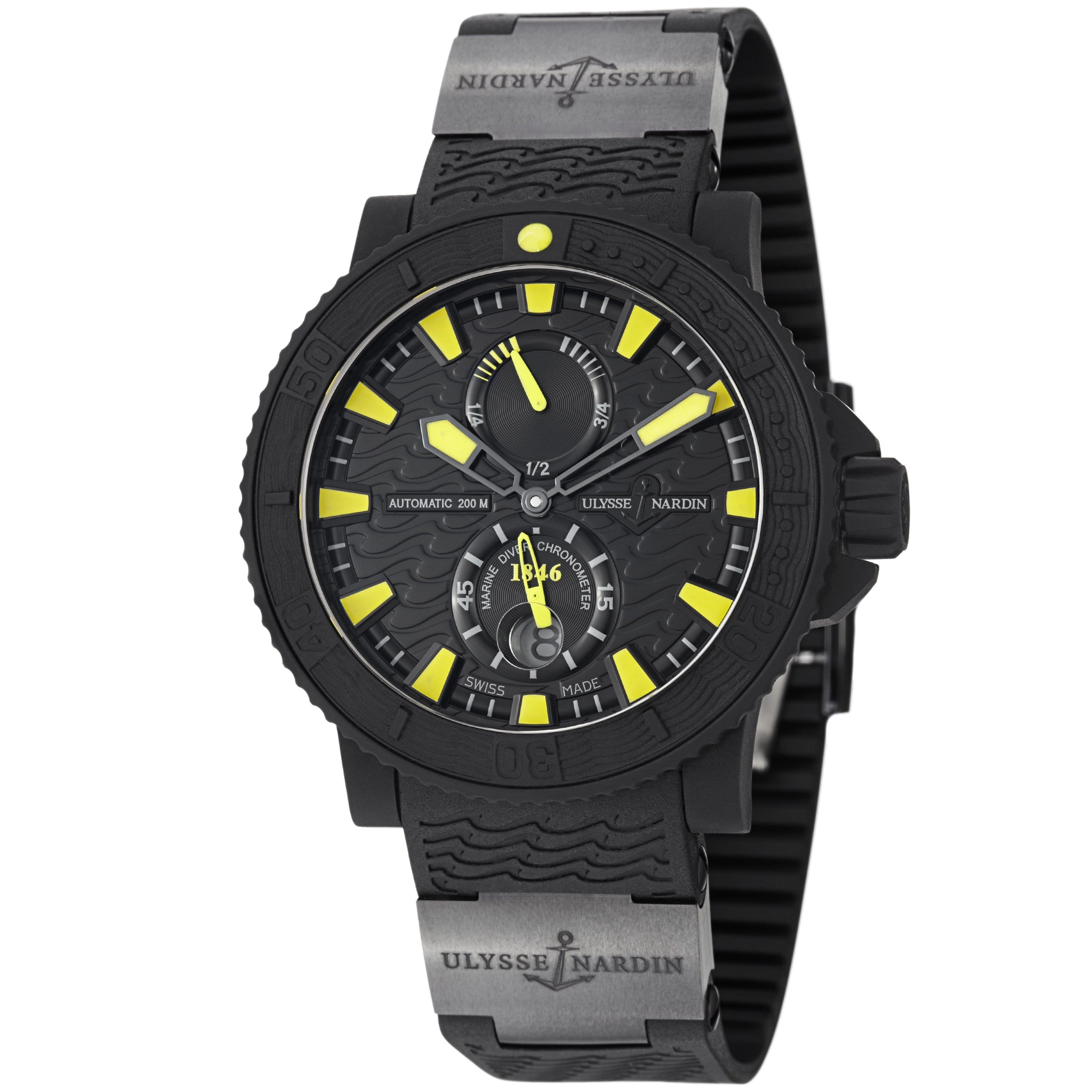 Ulysse Nardin  Men's 263-92-3C/924 'Black Sea' Black/Yell...