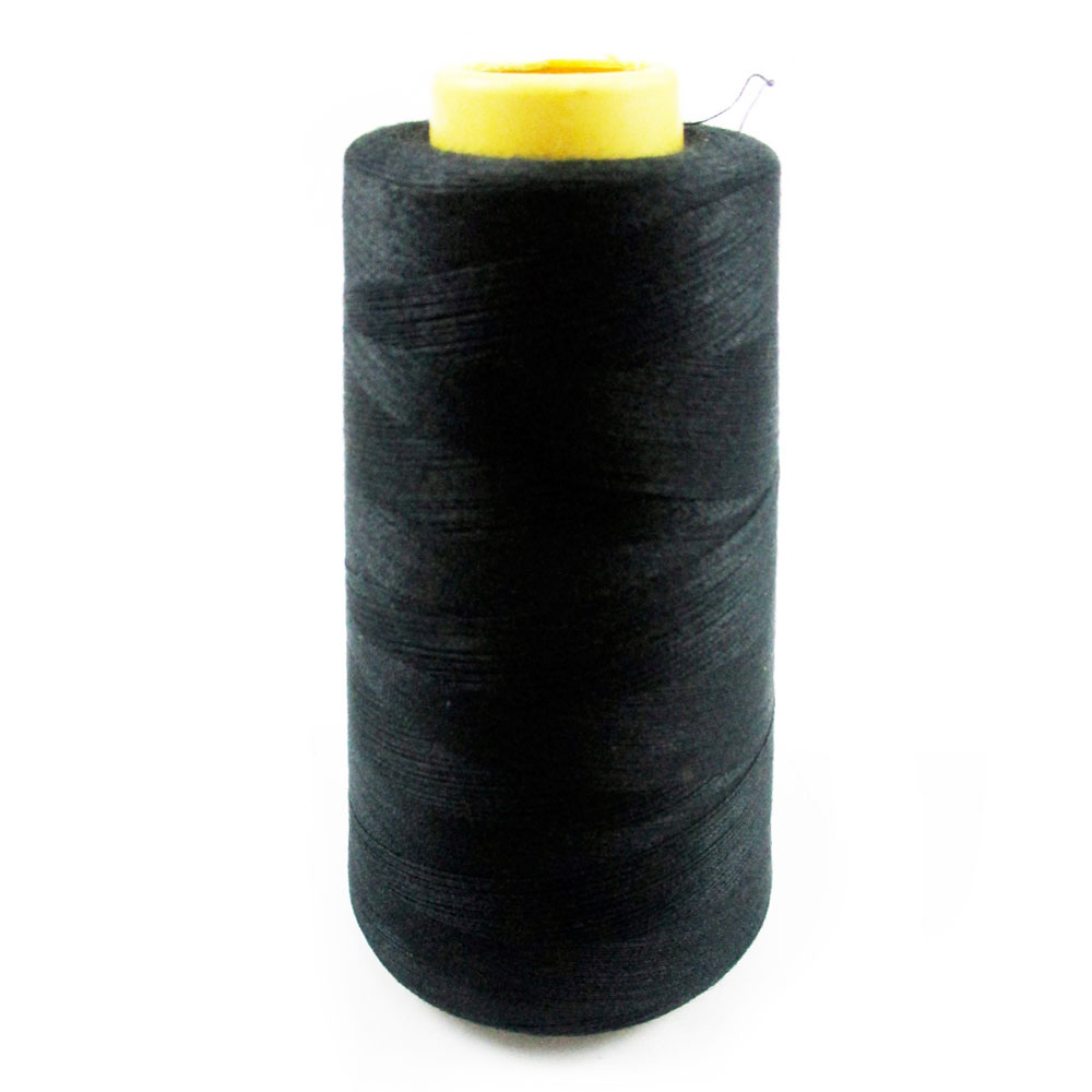3 Spools Black Sewing Thread Machine 3000 Yard 100/% Polyester Upholstery Leather