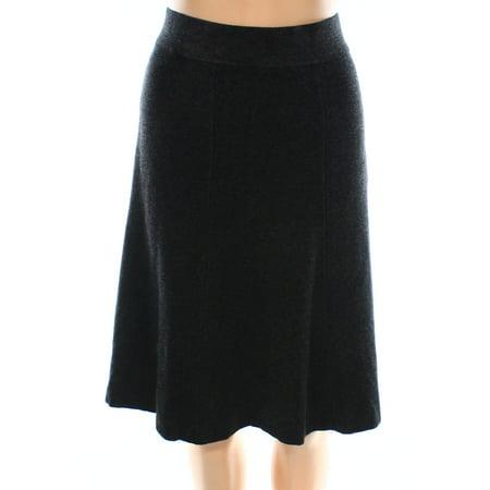 Alfani NEW Black Womens Size XL Sweater Knit Fit-N-Flare A-Line Skirt
