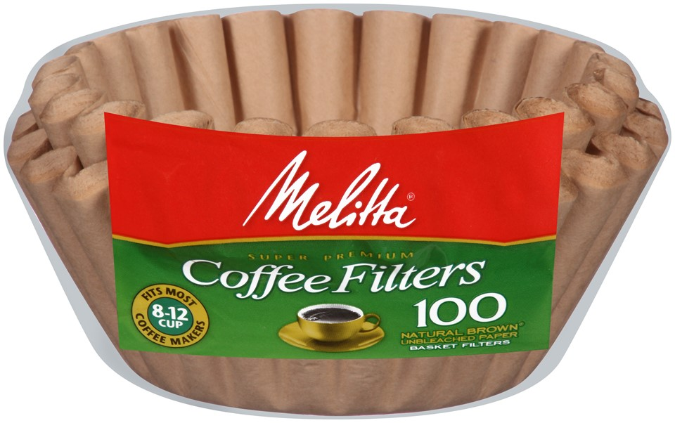 Melitta� Natural Brown Paper Basket Coffee Filters 8-12 Cup Size 100 ct Bag by Melitta