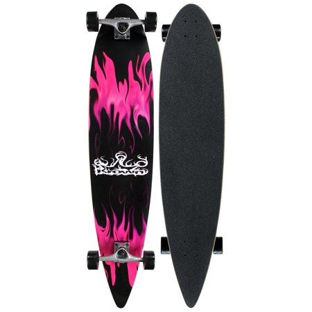 Krown Pintail Longboard Purple Flame 9