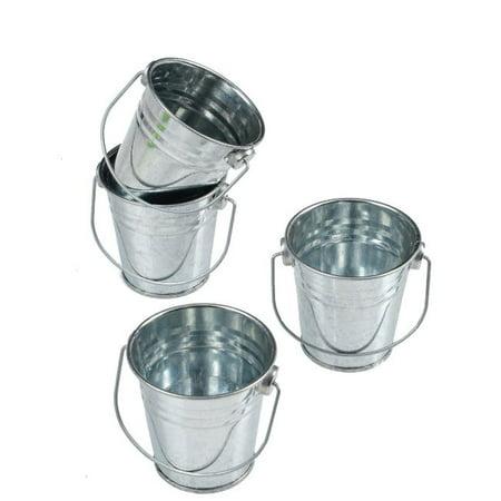 Mini Metal Buckets (Mini Metal Buckets,Pack of 12)