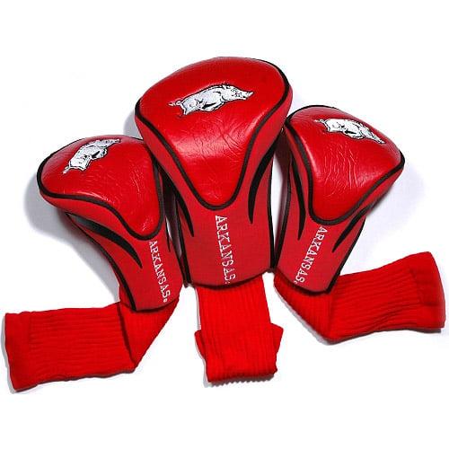 Team Golf NCAA Arkansas 3 Pack Contour Head Covers