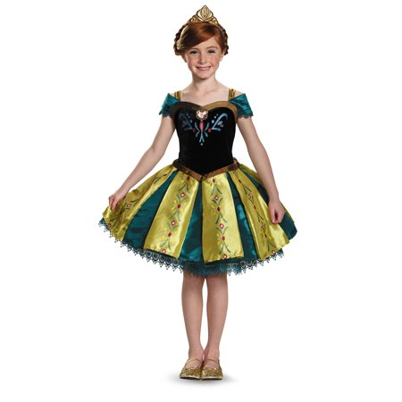 Child Frozen Anna Coronation Prestige Tutu Costume by Disguise - Frozen Anna Costume