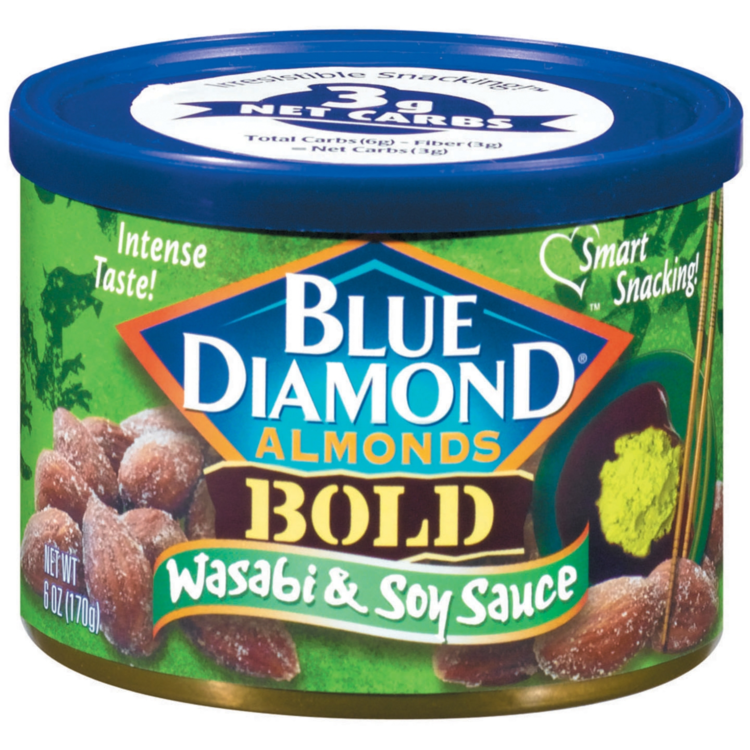 Blue Diamond Bold Wasabi & Soy Sauce Almonds, 6 oz - Walmart.com