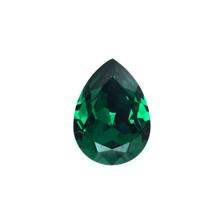 14x10mm Emerald (Swarovski Crystal, #4320 Pear Fancy Stone 14x10mm, 1 Piece, Emerald F)