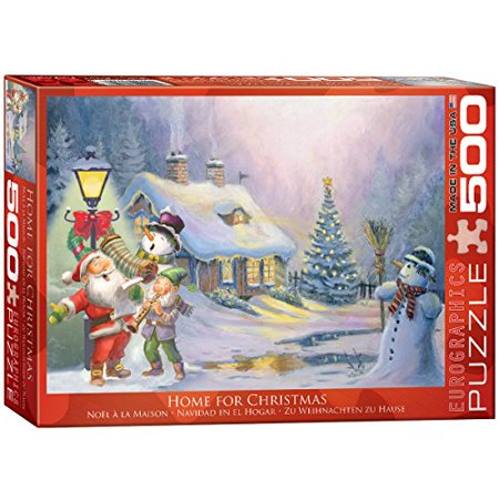 EuroGraphics Home for Christmas 500-Piece - Puzzles For Preschoolers