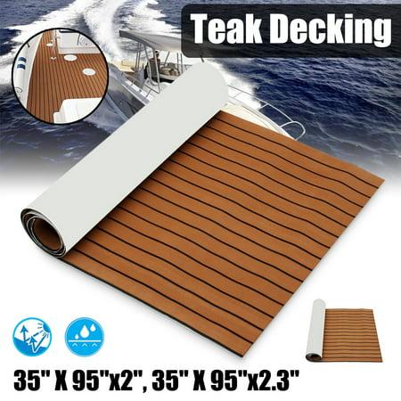 "1Pcs 35.4'' x 106.30"" Marine Boat Sheet Teak Decking Boat Flooring Mats Yacht Flooring EVA Foam Floor Sheet Self-Adhesive Mat,  5mm/6mm Thickness  - image 7 de 7"