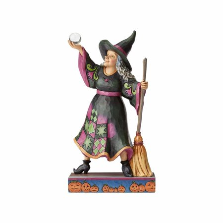 Jim Shore Halloween 4058847 Witch with Crystal Ball/Broom 2017 - Make A Crystal Ball For Halloween