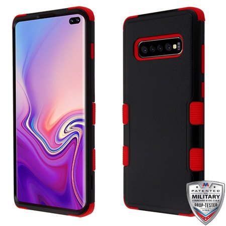 MYBAT Natural Black/Red TUFF Hybrid Protector Cover for Galaxy S10 plus - image 1 of 1