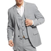INC NEW Light Gray Mens Size Large L Regular Fit Seamed Two Button Blazer