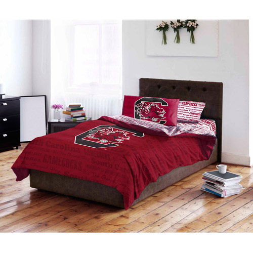 NCAA University of South Carolina Gamecocks Bed in a Bag Complete Bedding Set
