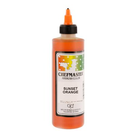 Chefmaster 9-Ounce Sunset Orange Airbrush Cake Decorating Food Color](Make Halloween Orange Food Coloring)