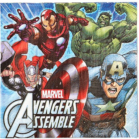 Marvel Avengers Lunch Napkins, 16 Count, Party Supplies