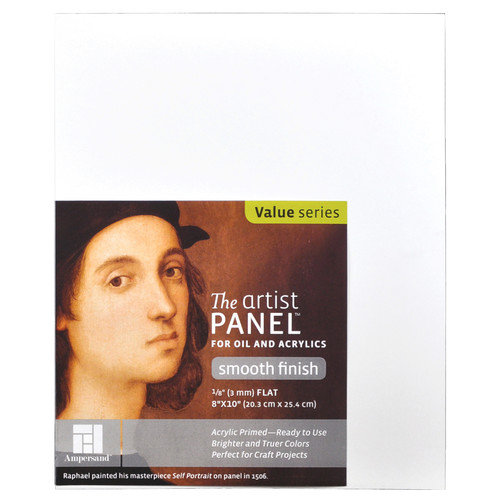 AMPERSAND ART SUPPLY APS0606 ARTIST PANEL PRIMED SMOOTH 1/8X6X6