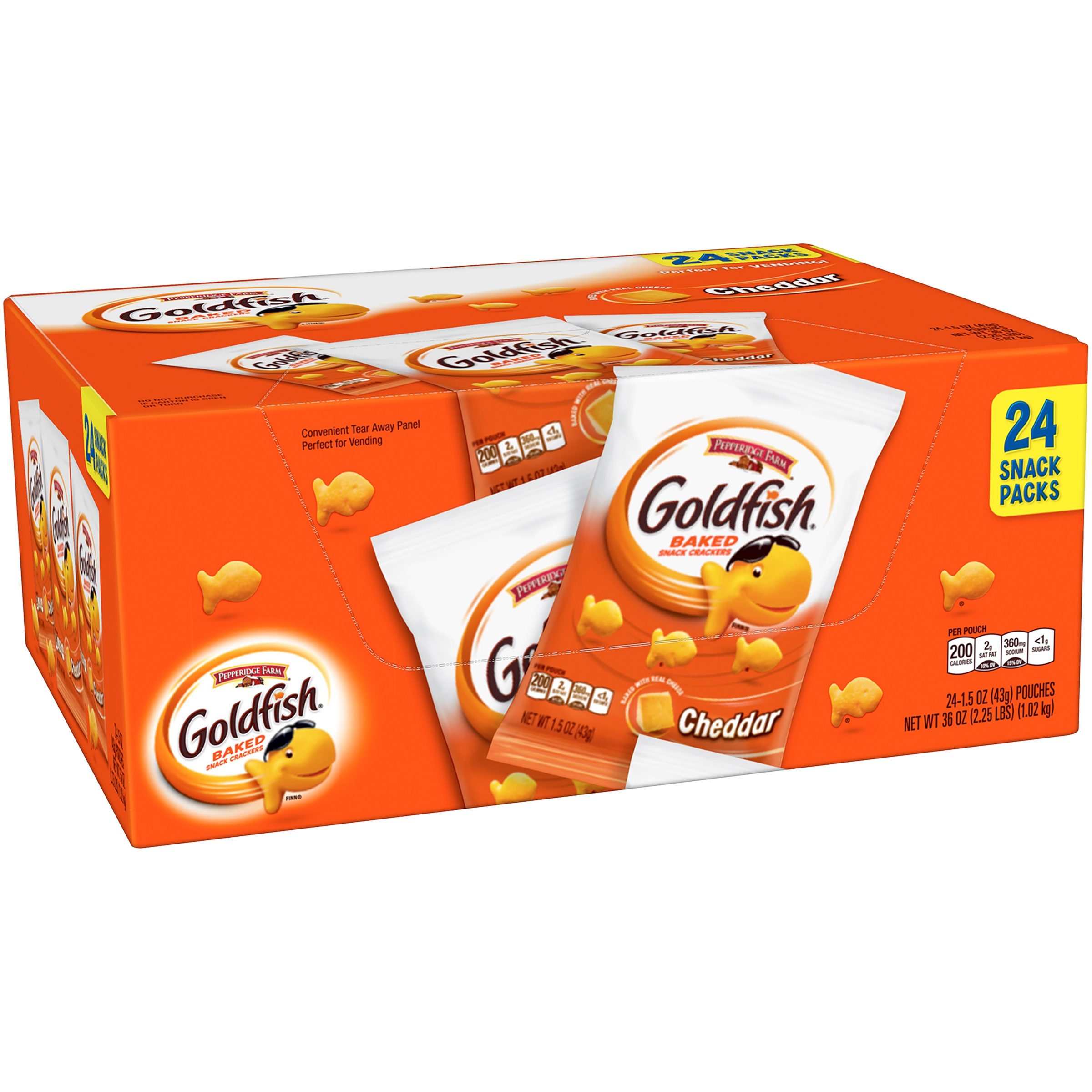 Pepperidge Farm® Goldfish® Cheddar Baked Snack Crackers 24-1.5 oz. Pouches
