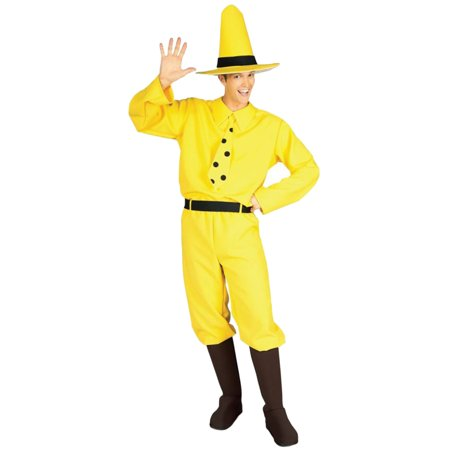 Morris Costumes Adult Mens Storybook Curious George Yellow Standard, Style RU888027